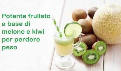 Questo frullato a base di melone e kiwi può essere utile giorno dopo giorno per favorire l'eliminazione del grasso e perdere peso.