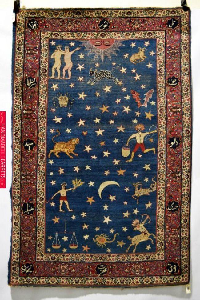 Persian Zodiac Rug Rugs Suzani Antique Carpets