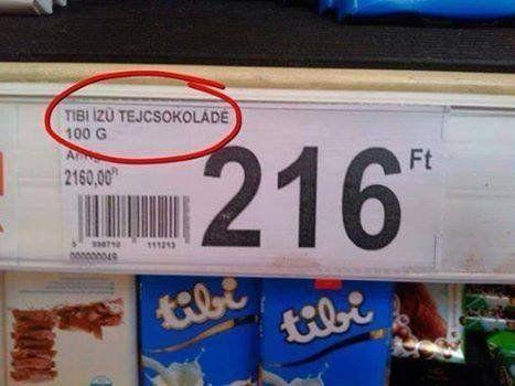 Tibi ízű csoki