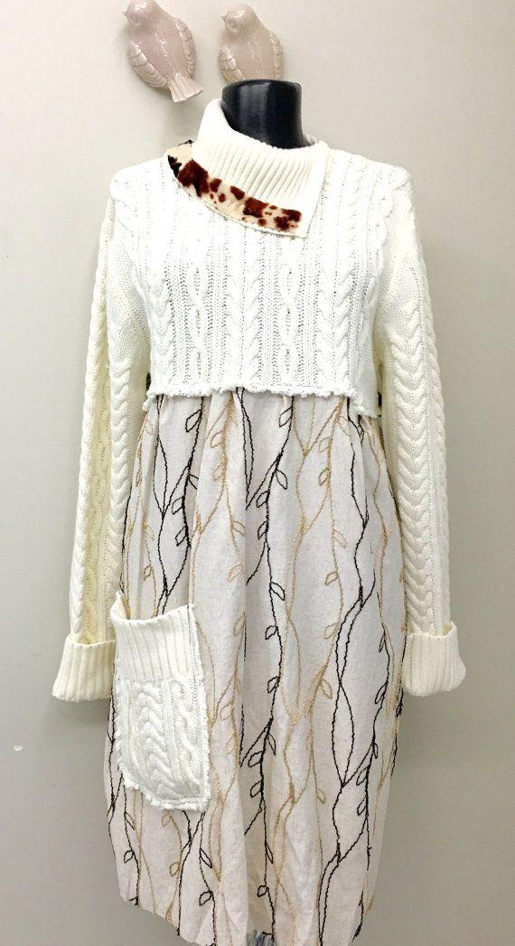 VERKAUF Boho Upcycled Kleidung böhmischen Kleid von 16October