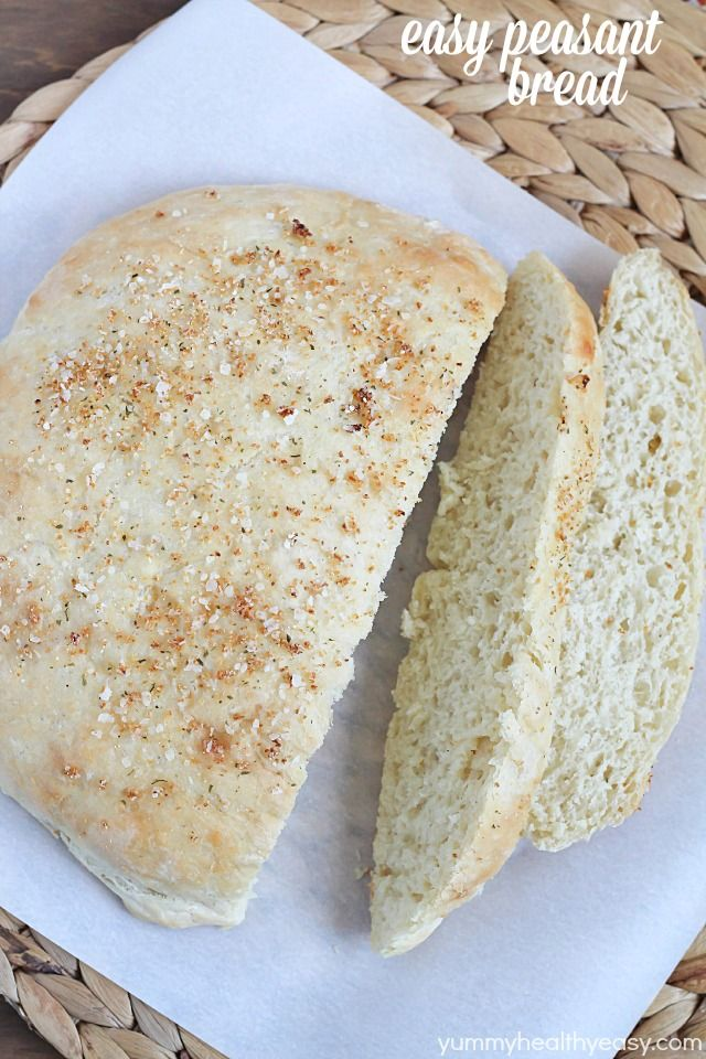 This Peasant Bread is a simple to make, no-knead recipe for the BEST bread ever!