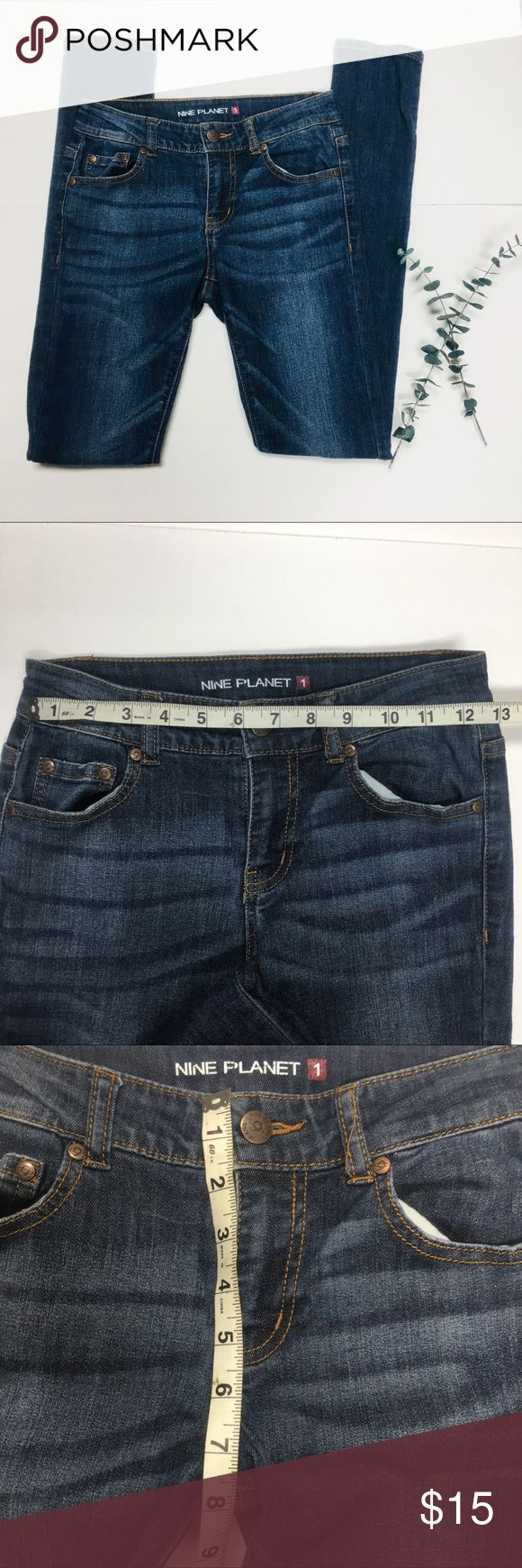 Nine planet used jeans size1 skinny juniors Great condition. Like new. Size 1 juniors. Made in China  74.5% cotton 24% polyester  15% spandex nine planet Jeans Skinny