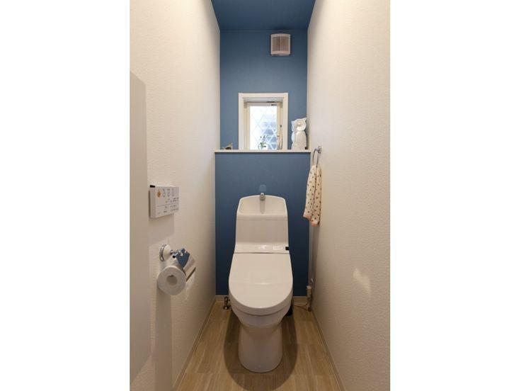 ブルーをトイレのアクセントカラーに