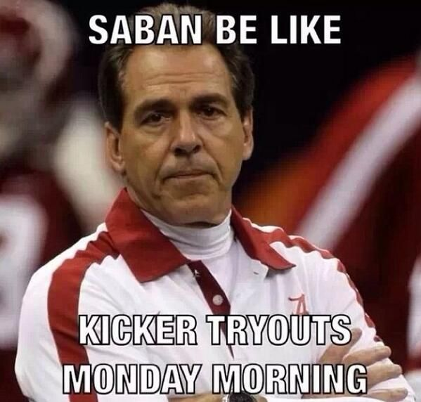 Hey Bama you got a second? #NCAA #CollegeFootball For Great Sports Stories, Funny Audio Podcasts, and Football Rules Tutorial www.RollTideWarEagle.com