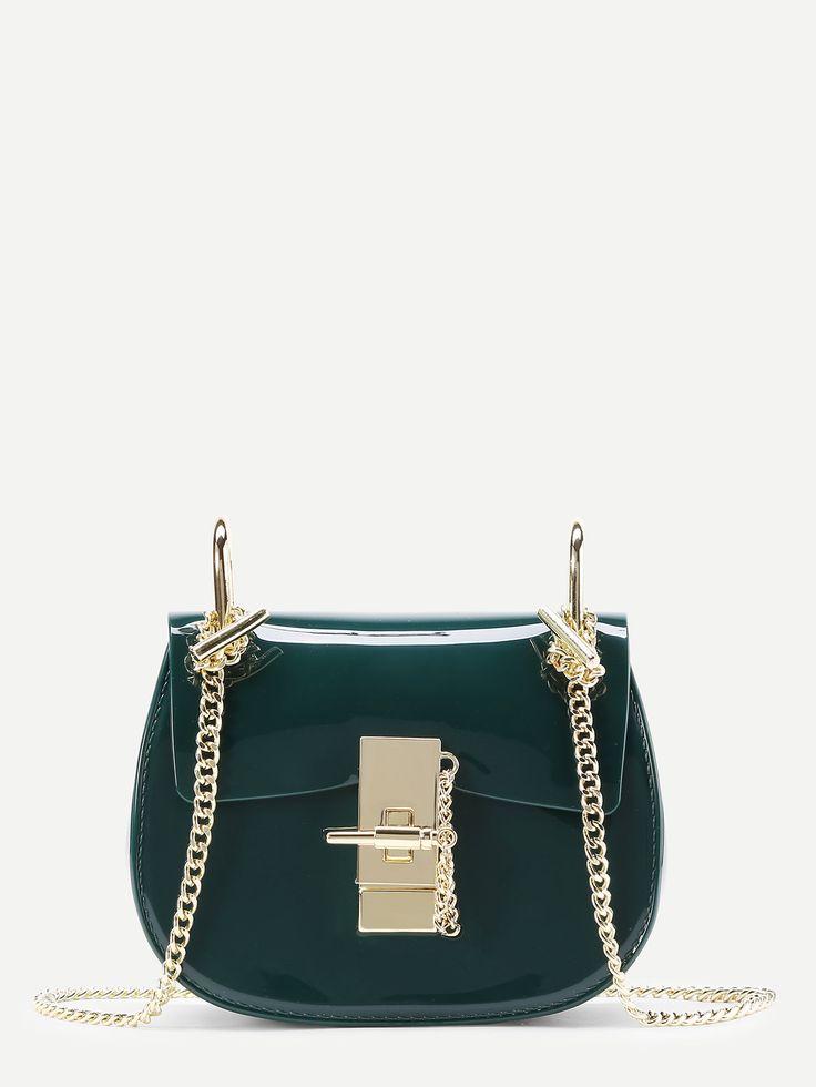 Shop Plain PVC Chain Saddle Bag online. SheIn offers Plain PVC Chain Saddle Bag & more to fit your fashionable needs.