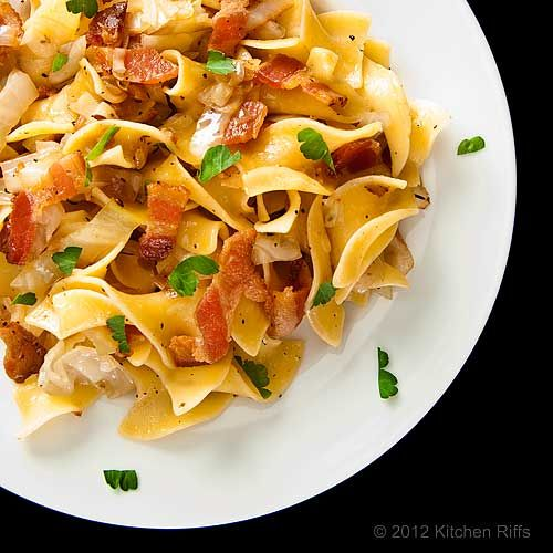 Hungarian Noodles and Cabbage with Bacon
