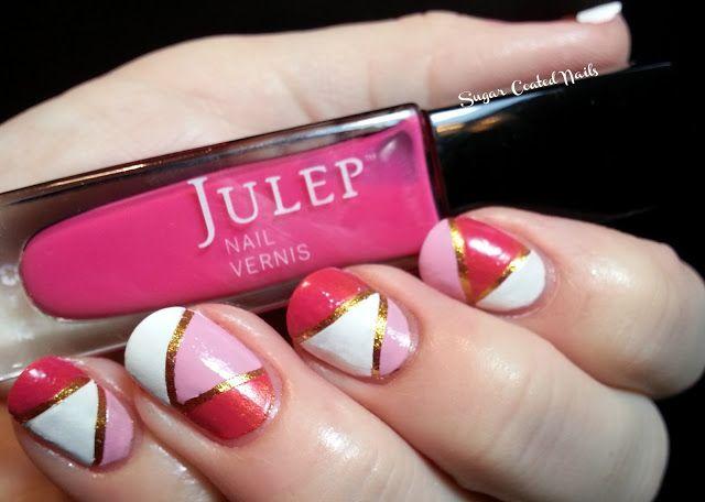 Day Seven - Tape Mani  http://sugar-coated-nails.blogspot.com/
