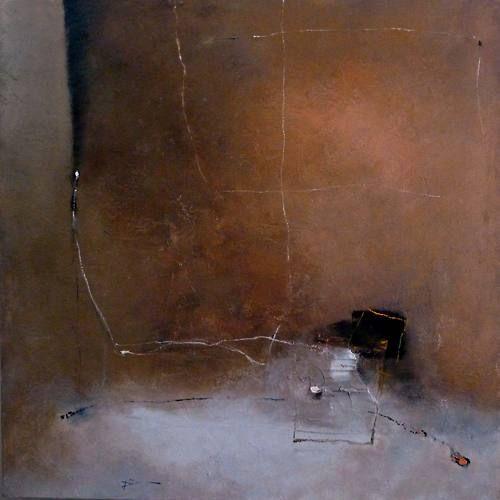 """Franck Duminil, """"Aube des Sables XII"""", huile sur toile"""