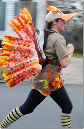 I VOTE BENJI TO DRESS UP LIKE THE TURKEY   homemade turkey costume