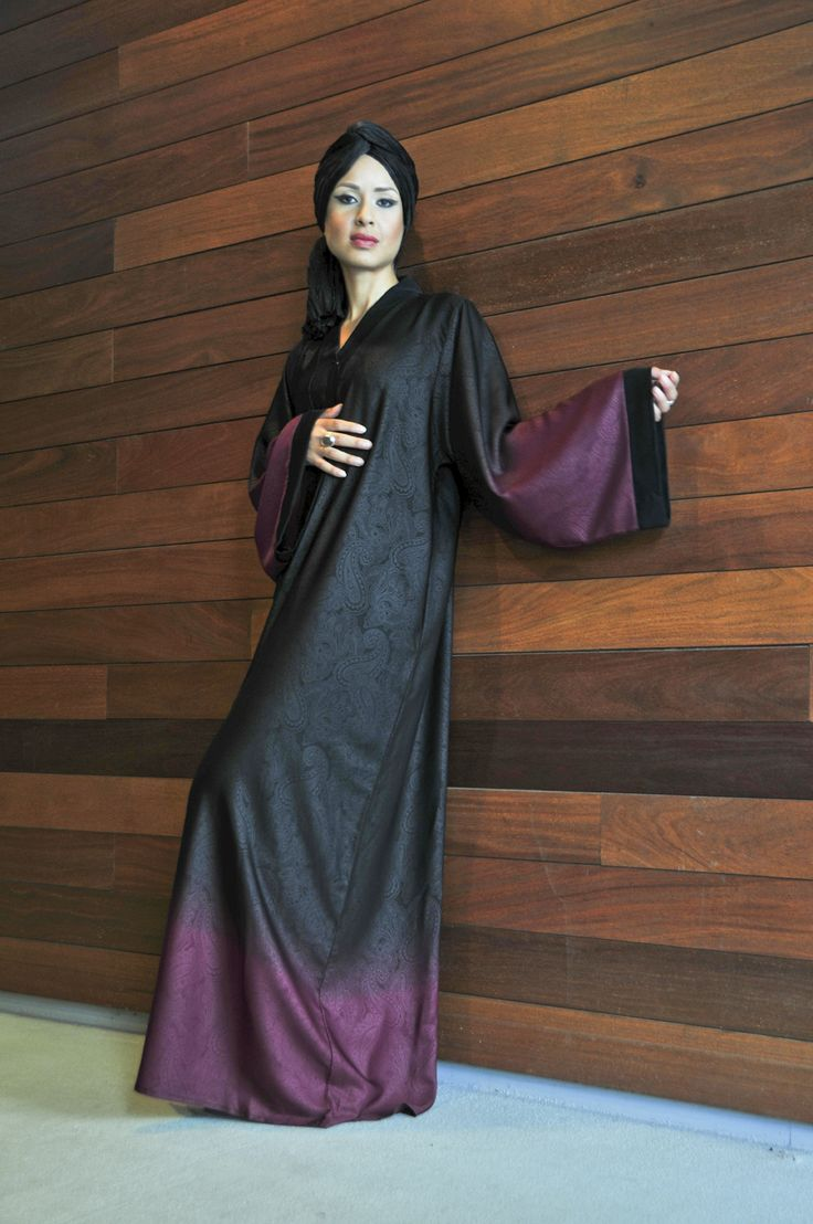 2016 Fuchsia Paisley Print Abaya