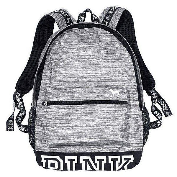Victorias Secret Campus Backpack Marl Grey/ White Logo