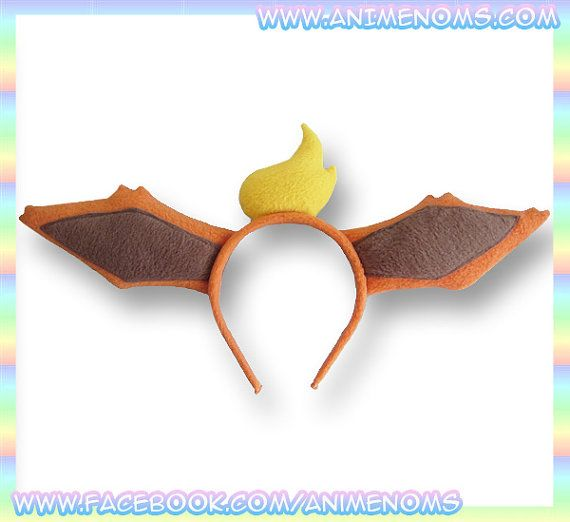 Flareon Ears Headband Fleece Anime Geek Gift Eevee Pokemon Orange Yellow Cute Kawaii Cosplay