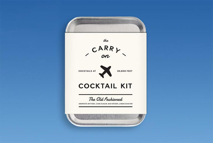 Carry-On Vintage Cocktail Kit: Old Fashioned