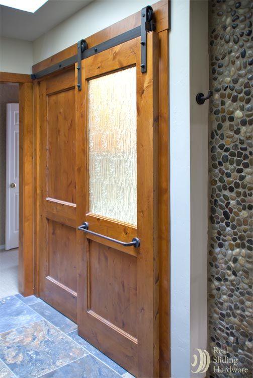 41 best gates images on pinterest barn barns and door entry for Glass barn door for bathroom
