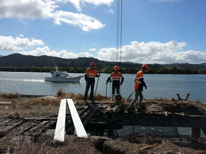 Wharf removal, Whangarei