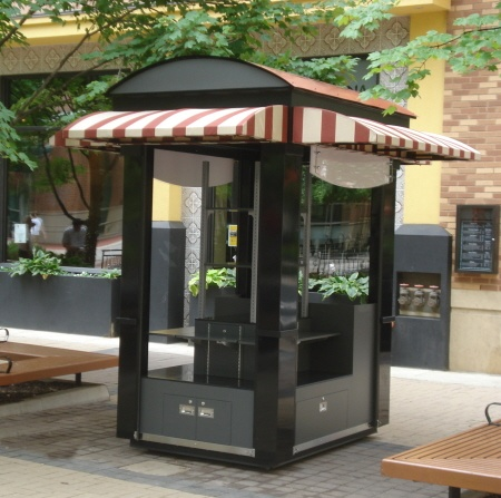Our outdoor carts and kiosks are specially made to withstand harsh environments.
