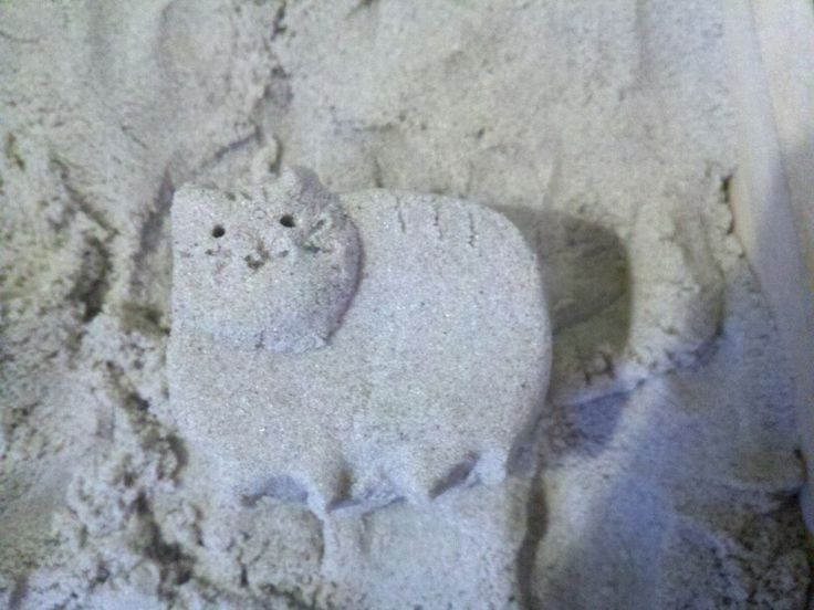 I made Pusheen out of Brookstone Sand!