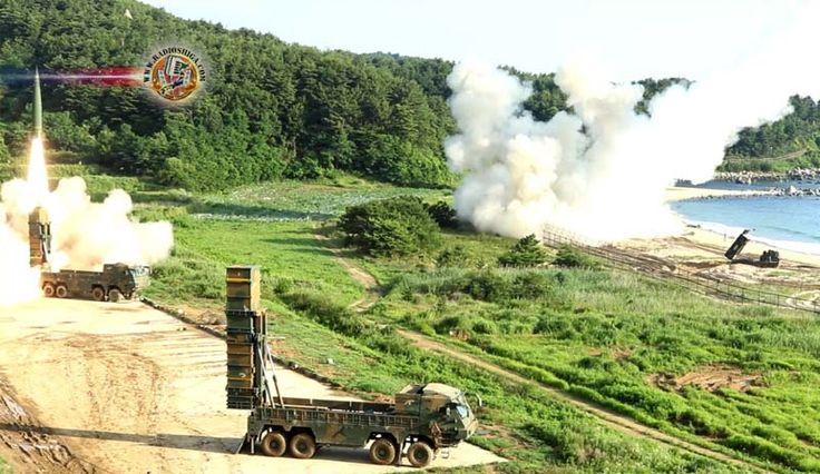 EUA e Coréia do Sul realizam exercícios militares conjuntos. As unidades de mísseis dos militares dos EUA e da Coréia do Sul organizaram um exercício conjun