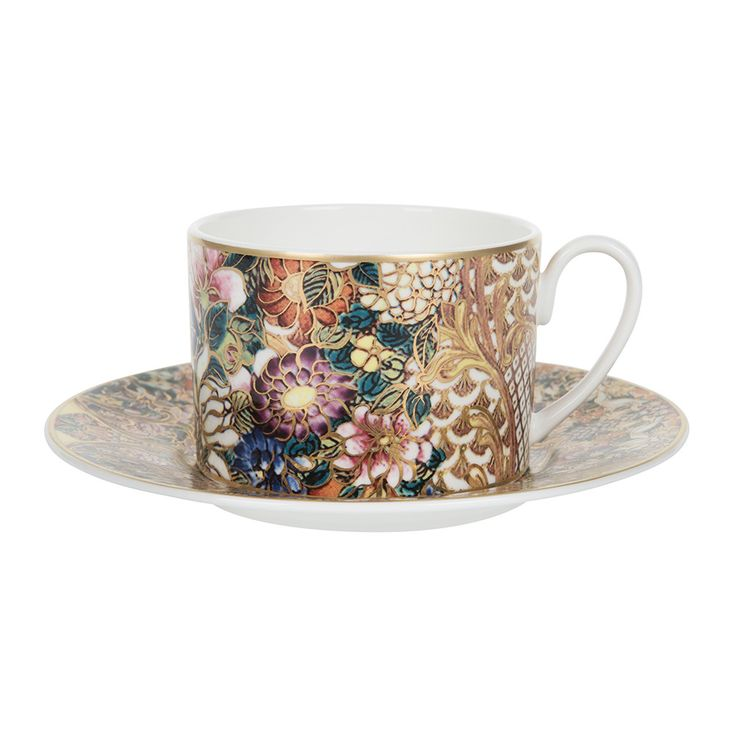 Discover the Roberto Cavalli Golden Flowers Teacup