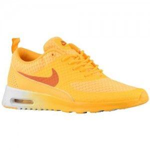 Online Bestellen Hardloopschoenen Nike Air Max Thea Premium Dames Neon Mango Zonne Oranje Wit Korting