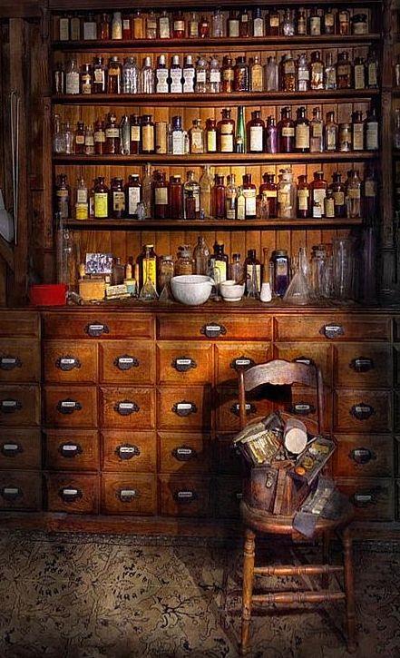 Medicine cabinet in the kitchen.