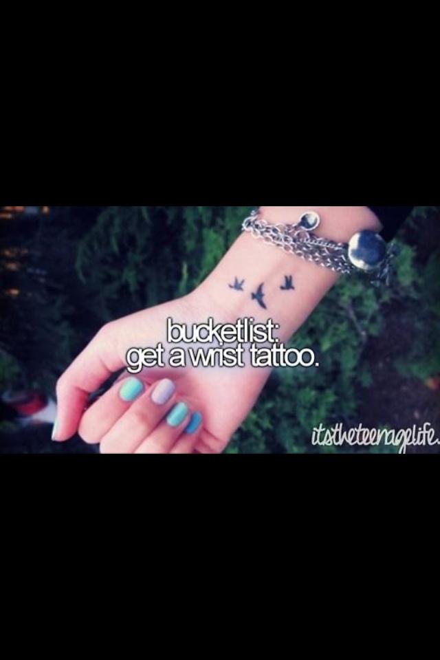 get a wrist tattoo bucket list pinterest bill o