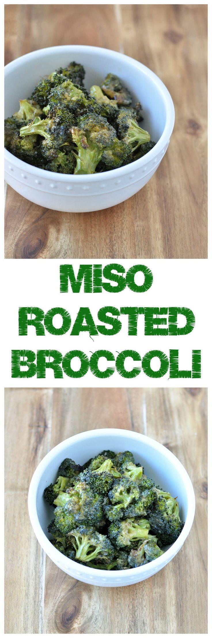 miso roasted broccoli