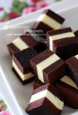HaNa's FamiLy: Steamed Layer Chocolate Cream Cheese Cake