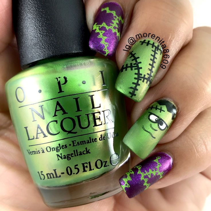 Frankenstein Nails - I would like the look of even just doing the stitches on all nails. ♡ ♡