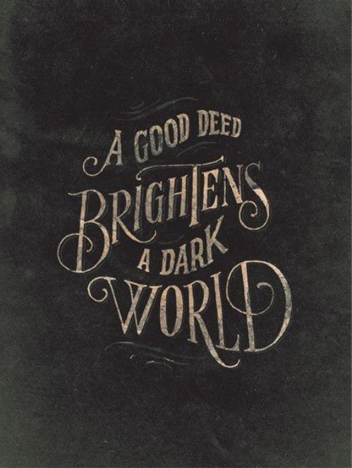 Be one to brighten the world. Your generosity goes a long way. #BuyItForward #GiveBack #InspireToBeGreat