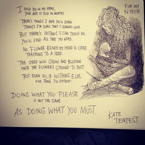 I think I might be in love with the poetry of Kate Tempest