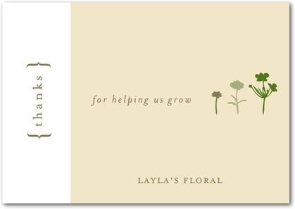 company thank you cards