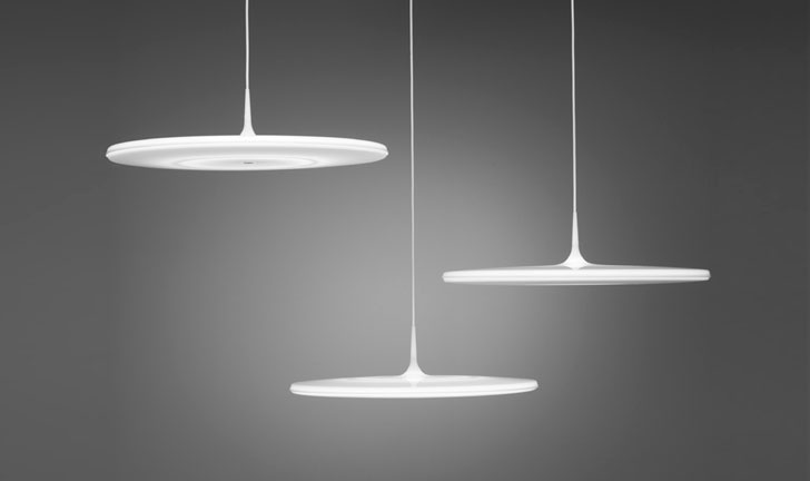 Tip lights by Tapio Anttila, manufactured by Keraplast.