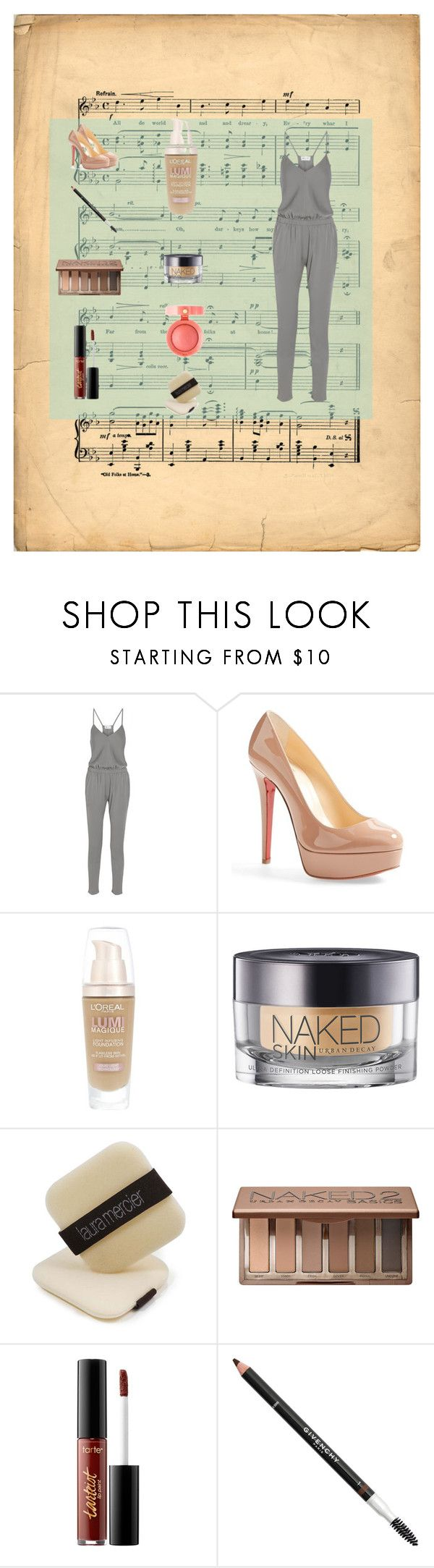 """summer combi outfit"" by layalfirdaws on Polyvore featuring mode, Milly, Christian Louboutin, L'Oréal Paris, Urban Decay, Laura Mercier, tarte, Givenchy et Bourjois"