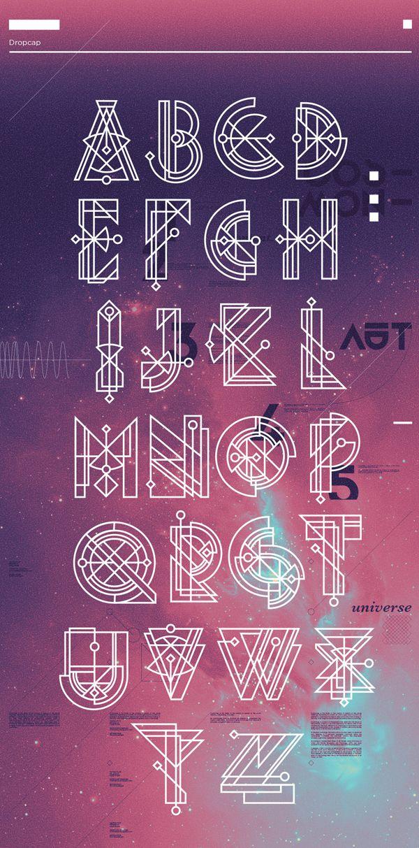 Cosmonaut font letters