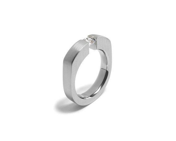 Trendy Mens Gemstone Ring with Tension Set by Taormina Designs, $195.00