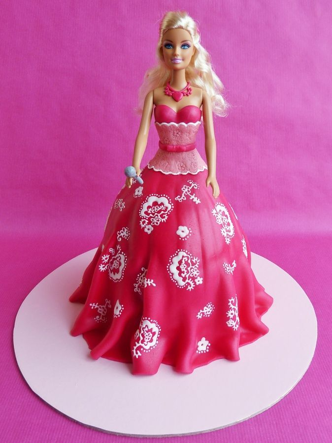 Best Cakes Doll Images On Pinterest Barbie Cake Biscuits - Birthday cake doll designs
