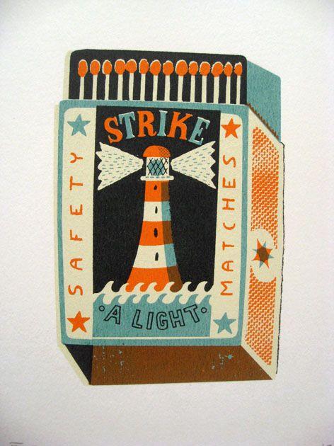 : Graphic Design, Toms, Illustration, Art, Tom Frost, Light, Matchbox
