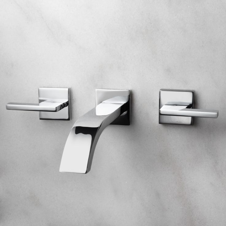 Ultra Wall Mount Bathroom Faucet With Lever Handles