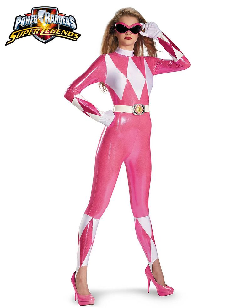 Power Rangers Pink Ranger Sassy Bodysuit Women's Costume ...