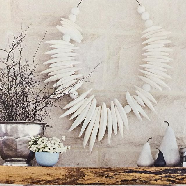 Cuttlefish wall art from Beachwood starring on a full page shot in @homebeautiful #cuttlefish #localart #marblepears #beachwood