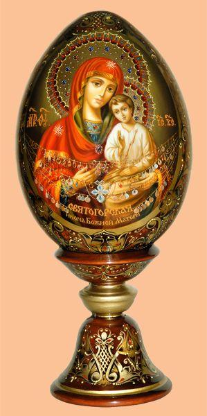"""Икона Пресвятой Богородицы """"Святогорская"""" «Мастерская раритетов Монаховой»"""
