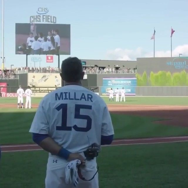 46 yr old Kevin Millar hits a HOME RUN in his return to pro baseball...  #dinger #thereturn #beast (@baseball.plays)