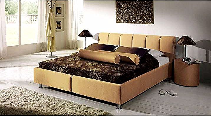Bett Modica 200x200 Cm Schwarz Bettrahmenhohe 45 Cm Ohne Matratze Polsterbett Brown Bed Frame Brown Bed Bed Frame