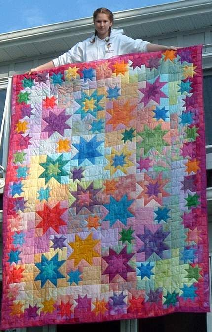 quilt made by reader from Judy Martin's book, Star Happy Quilts, 2000. Viewer Photos                                                                                                                                                     More