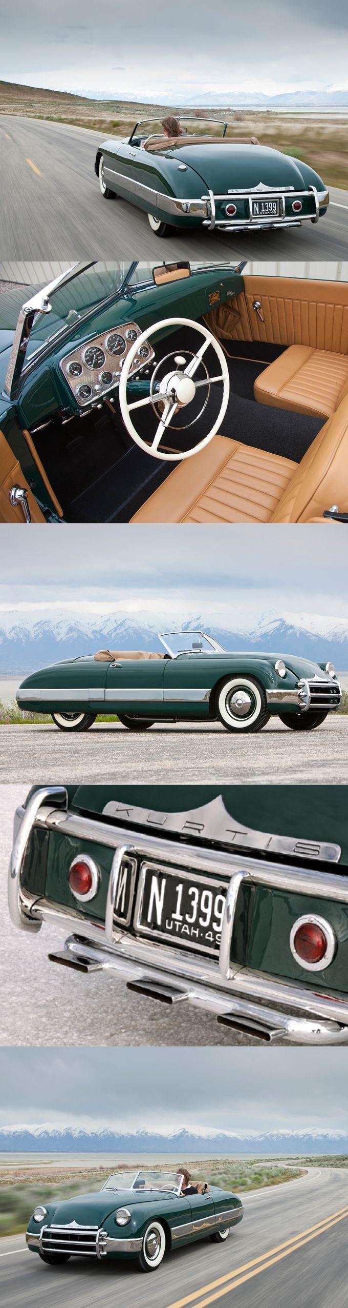 1949 Kurtis Sport / 100hp Ford V8 / 36 produced / USA / green / 17-376