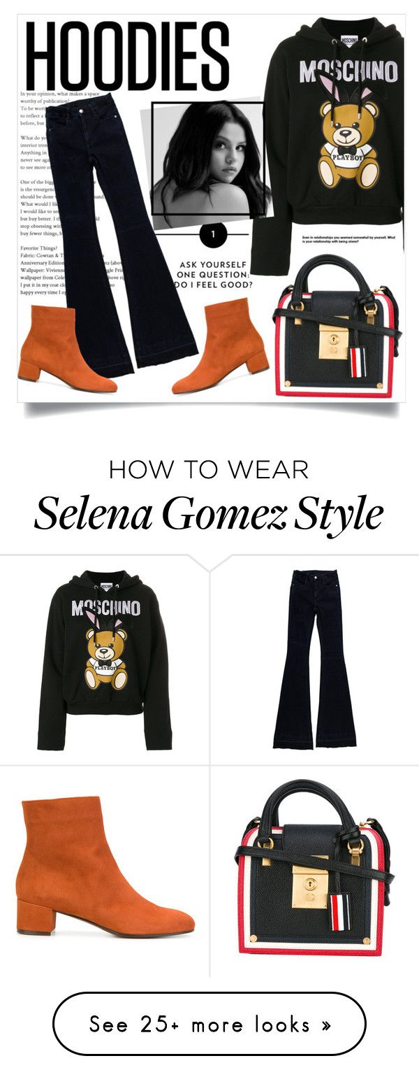 """""""Sin título #910"""" by babyromy on Polyvore featuring Moschino, STELLA McCARTNEY, L'Autre Chose, Thom Browne and Hoodies"""