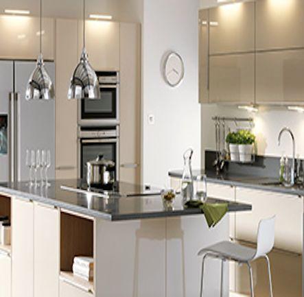 B Q It Santini Gloss Grey Slab Kitchen Kitchen Compare Com Home