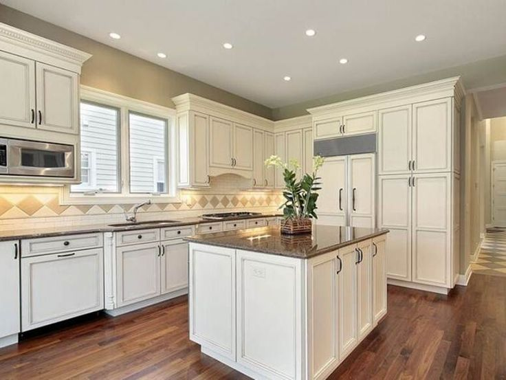 Modern White Kitchen Cabinet Color