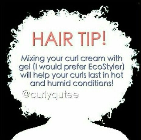 Make sure it mix well by putting a little gel and cream on your hand mixing it together to avoid heavy product build up